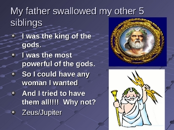 Greek Mythology the Olympian Children and Their Naughty Parents