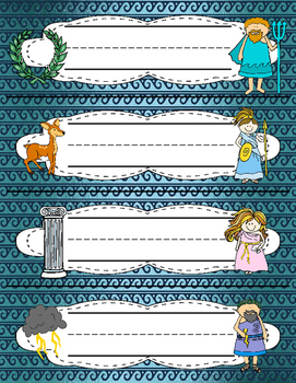 Greek Mythology themed desk name plates