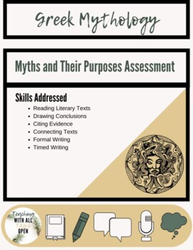 Greek Mythology:Purpose of Myth Assessment