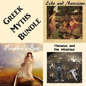 Greek Myth Bundle Worksheets Teaching Resources Tpt