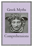 Greek Myths - Reading Comprehensions / Distance Learning