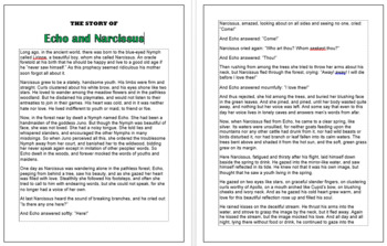 Greek Myths: Echo and Narcissus