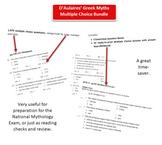 D'Aulaires Greek Myths Multiple Choice Quiz Bundle