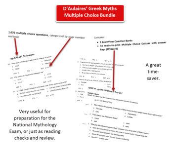 D'Aulaires Greek Myths Mega 648 Multiple Choice Bundle.