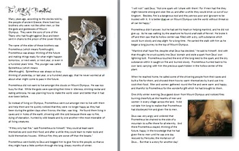 Greek Myths - Pandora's Box and Prometheus