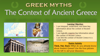 Greek Myths: The Context of Ancient Greece