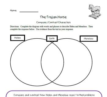 """Greek Myths """"The Trojan Horse"""" story AND activities included (Grades 4-7)"""