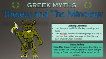 Greek Myths: Theseus and The Minotaur