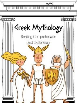 Greek Myths and Legends Reading Comprehension and Exploration