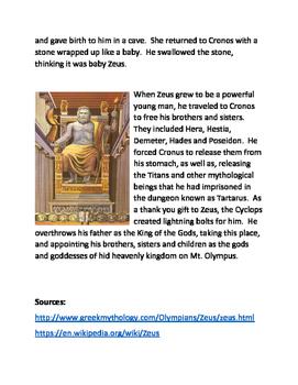 Greek Myths and Legends Volume 1