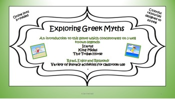 Greek Myths made Simple! Narratives & Literacy Tasks