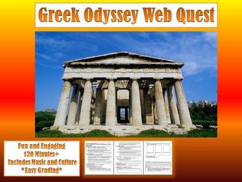 *FREE* World History Activity-Ancient Greece Odyssey Webquest(MYTHOLOGY+CULTURE