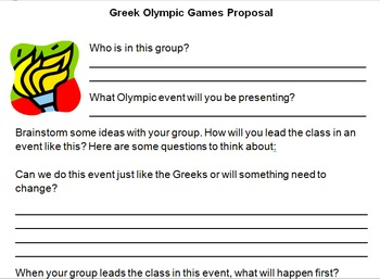 Greek Olympic Games Group Proposal