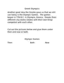 Greek Olympics Activity