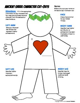 Greek Philosopher Cut Out Doll Activity or Mini Project FUN