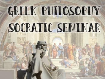 Greek Philosopher Socratic Seminar