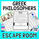 Greek Philosophers ESCAPE ROOM: Plato, Socrates, Aristotle