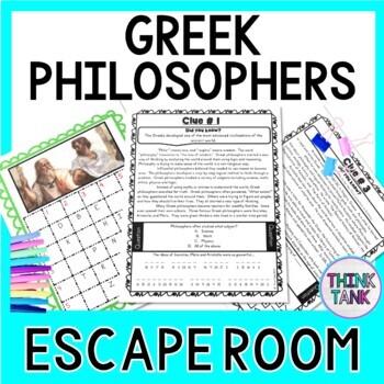 Greek Philosophers ESCAPE ROOM: Plato, Socrates, Aristotle