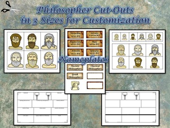 Greek Philosophers Large 8.5x14 Research Activity Templates