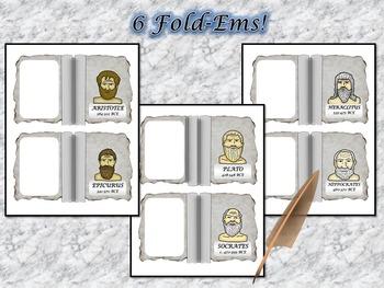 Greek Philosophers Research Fold-Ems Activity