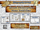 Greek Philosophers Research Fold-Ems Activity