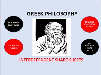 Greek Philosophy: Interdependent Share-Sheets Activity