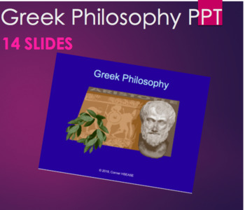 Greek Philosophy Introduction PPT