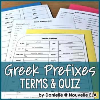 Greek Prefixes Terms & Quiz