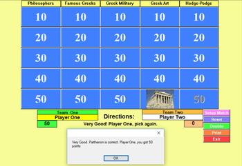 Greek Quiz Show - Bill Burton