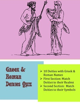 Greek & Roman Deity Quiz