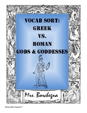 Greek & Roman Gods & Goddesses Word Sort Activity