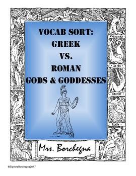 Greek & Roman Gods & Goddesses Word Sort Activity