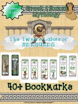 Greek & Roman Mythology 12 Labors of Hercules Bookmarks