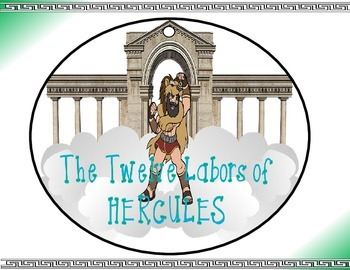 Greek & Roman Mythology 12 Labors of Hercules Circle Graphic Organizer Activity