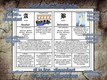 Greek & Roman Mythology Alphabet Mini-Book