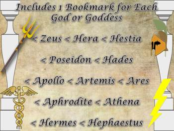 Greek & Roman Mythology Bookmarks