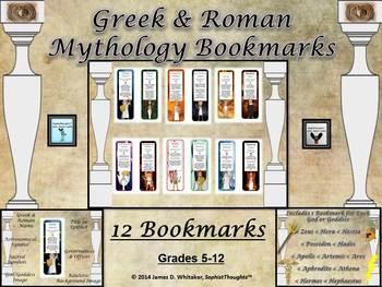 Greek & Roman Mythology Bookmarks