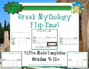 Greek & Roman Mythology Interactive Family Tree & Research Flip-Ems Two Pack