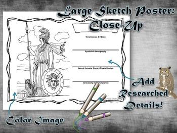 Greek & Roman Mythology Large Sketch Poster Activity