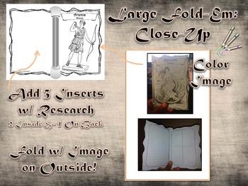 Greek & Roman Mythology Large Sketch Research Fold-Ems & Mini-Books