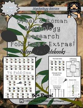 Greek & Roman Mythology Mini Research Fold-Ems Funny Frien