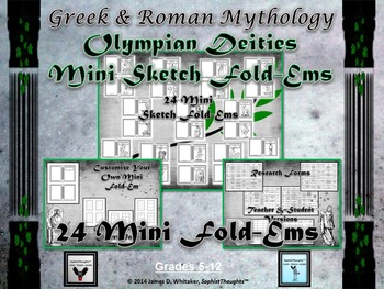 Greek & Roman Mythology Research Mini Sketch Fold-Ems
