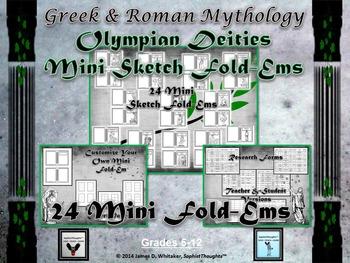 Greek & Roman Mythology Research Mini Sketch Fold-Ems