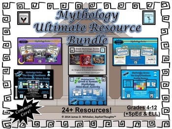 Greek & Roman Mythology Ultimate Resource Bundle Common Core