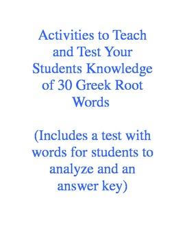 Greek Root Test I