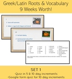 Greek Root and Vocabulary Bell Ringer-A Full 9 weeks with
