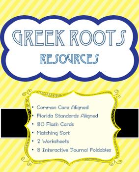 Greek Roots - Prefixes & Suffixes, Matching Sort, Interactive Notebook Materials