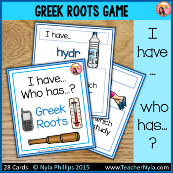 Greek Roots 'I Have Who Has' Game