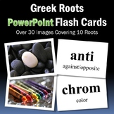 Vocabulary Activities | Greek Roots PowerPoint Flash Cards Part 1