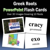 Vocabulary Activities | Greek Roots PowerPoint Flash Cards Part 2